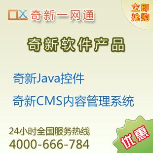奇新Java控件二进制授权2400元